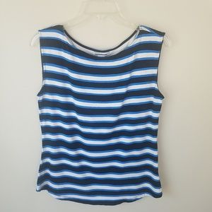 Liz Claiborne striped tank